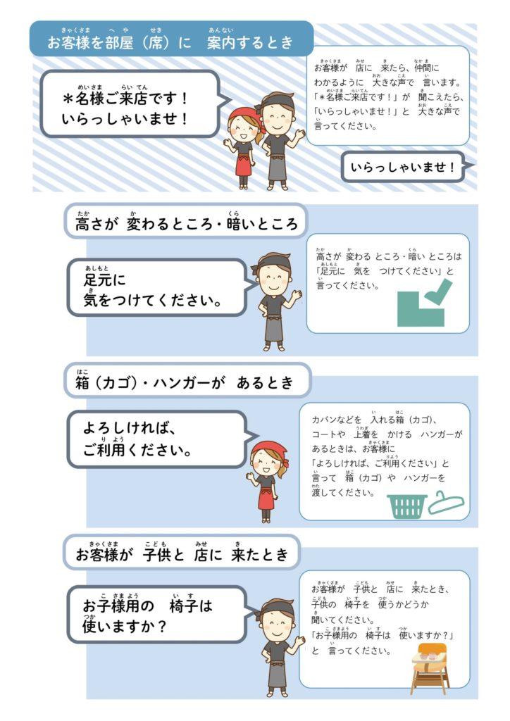 やさしい日本語 接客マニュアル